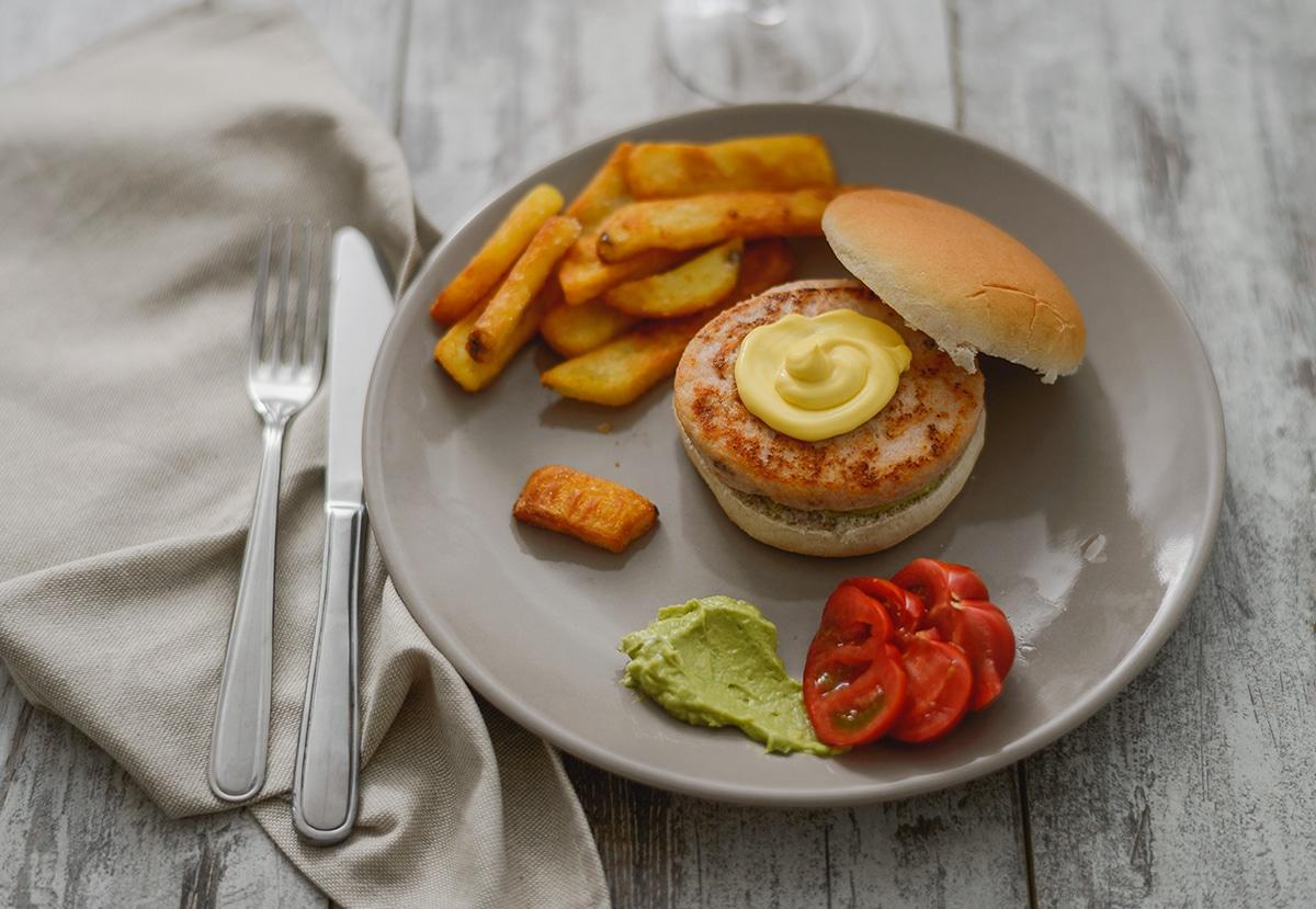 Burger di pesce - piatto